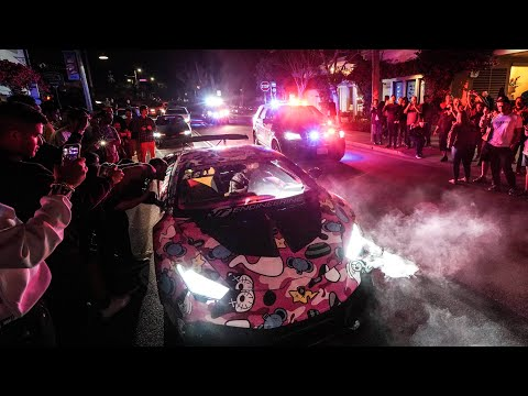 MONTEREY POLICE SWARM OUT OF CONTROL HYPERCAR MEET!