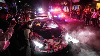 "MONTEREY POLICE SWARM ""OUT OF CONTROL"" HYPERCAR MEET!"