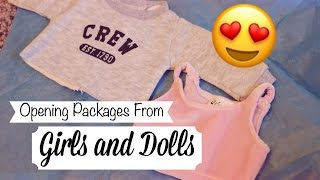 Opening Packages From Girls and Dolls!