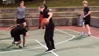 The Professor & TJass run court... Professor Murders Ankles.. Then 1v1