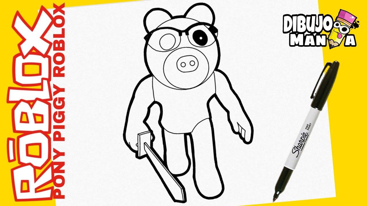 Como Dibujar La Skin Pony De Piggy Roblox Dibujos De Piggy