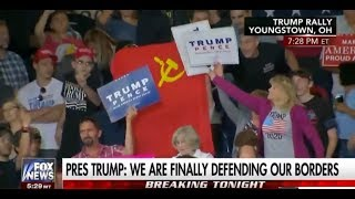 Communist Flag-Waving Commie Gets Removed from Trump Rally
