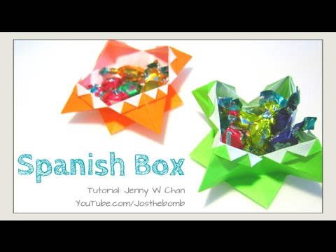 Halloween Crafts - DIY Origami Box - Paper Crafts Monster Box for ...