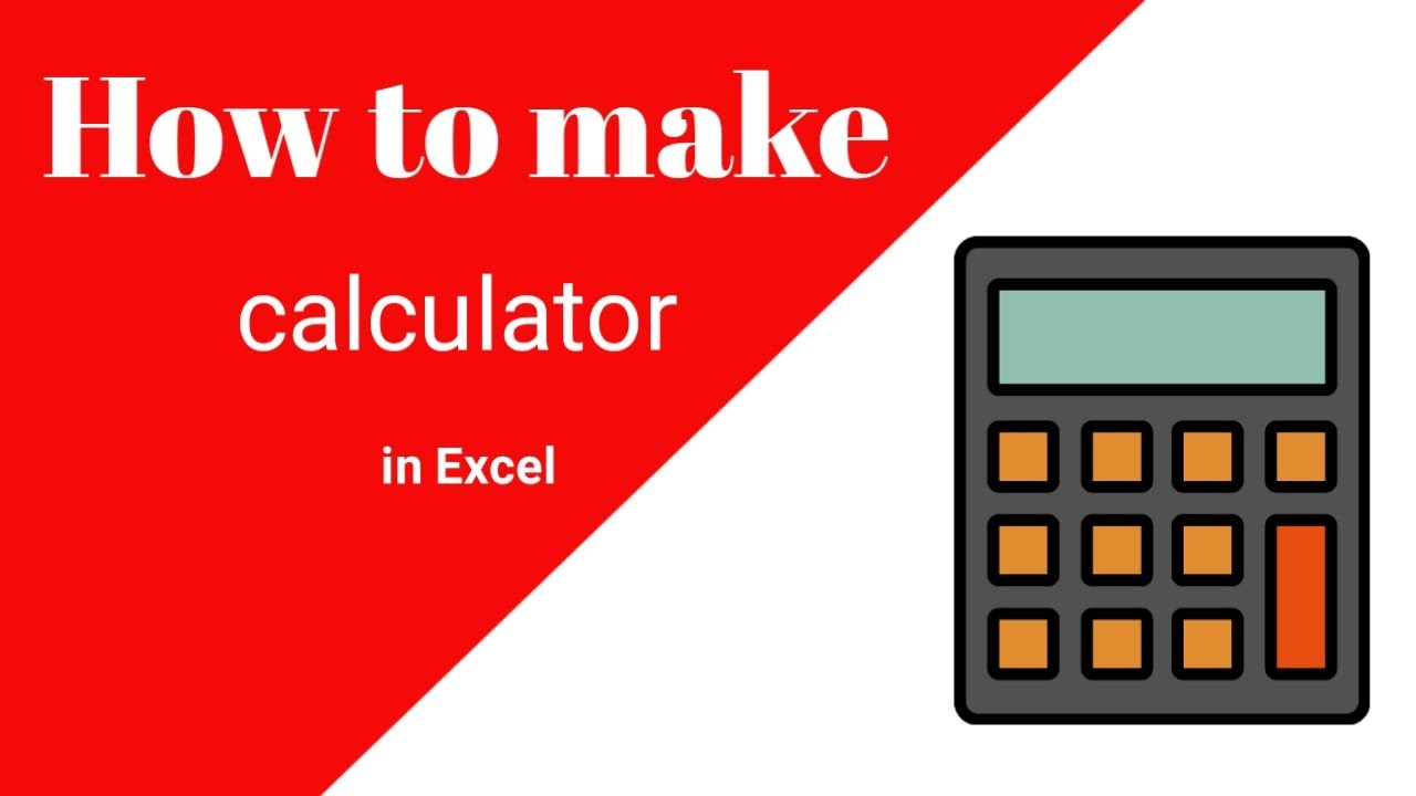 How to make a calculator in excel | create a calculator in excel 2017 using vba | advanced excel