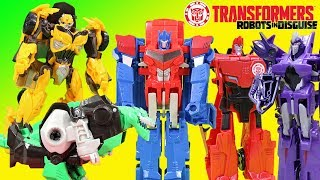 Transformers Robots in Disguise Decepticons vs Giant Bumblebee Adventure!