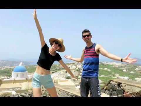 Santorini Vlog: Pirgos, Perissa, Akrotiri, Lighthouse, Oia!