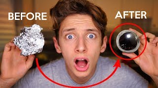I MADE A DIY JAPANESE POLISHED MIRROR TIN FOIL BALL CHALLENGE | GeorgeMasonTV