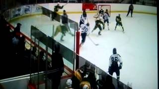 Feb 5 2015. #20 Aaron Ryback white Alexandria on LW on PP. Quick play off the draw to D.