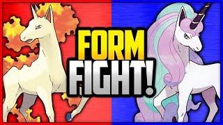 Rapidash vs Galarian Rapidash | Pokémon Form Fight (Sword & Shield) [4K]