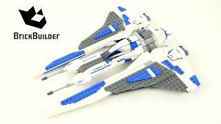 Lego Star Wars 9525 Pre Vizsla's Mandalorian Fighter - Lego Speed Build