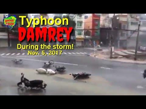 Typhoon Damrey hits Vietnam. Flooding and damaging winds, November 5, 2017