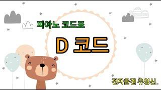 전자올겐과 피아노 코드표  코드의 종류.. D 최고의 …