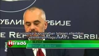 2014 11 10 Botrányba fulladt az albán kormányfő belgrádi látogatása