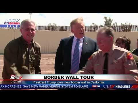 BORDER WALL: President Trump Tours New 30-Foot Tall Border Wall