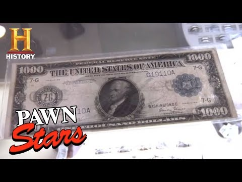 Pawn Stars: 1918 $1000 Federal Reserve Note (Season 7) | History