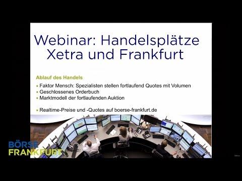 Webinar: Handelsplätze Xetra und Frankfurt