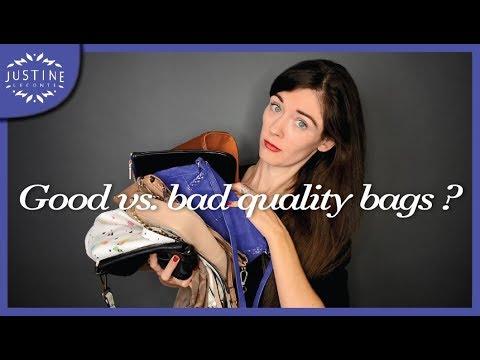 ae3adf6fa2 How to recognize good vs. bad quality handbags