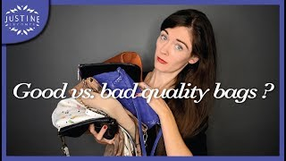 How to recognize good vs. bad quality handbags | Justine Leconte