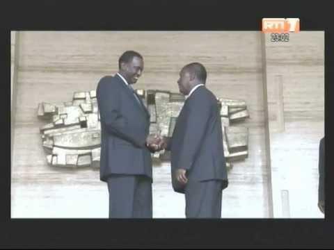 Le President Alassane Ouattara reçoit Wondimu Téklé et Moustapha Sène