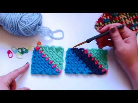 C2c Moss Stitch Tutorial