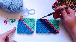 C2c moss stitch - YouTube