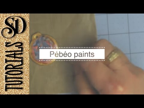 Playing with Pebeo paints