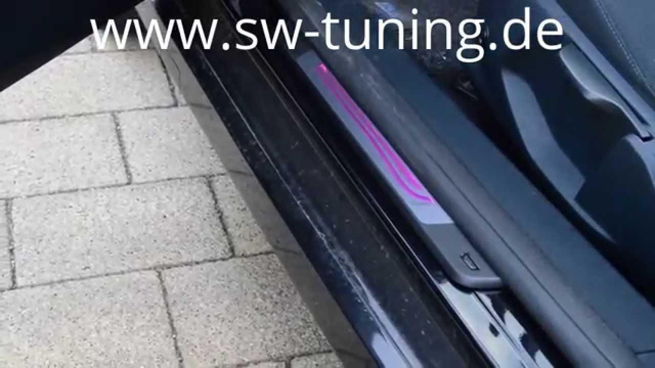 Einbauvideo Led Ambient Led Einstiegsleiste Black Silver