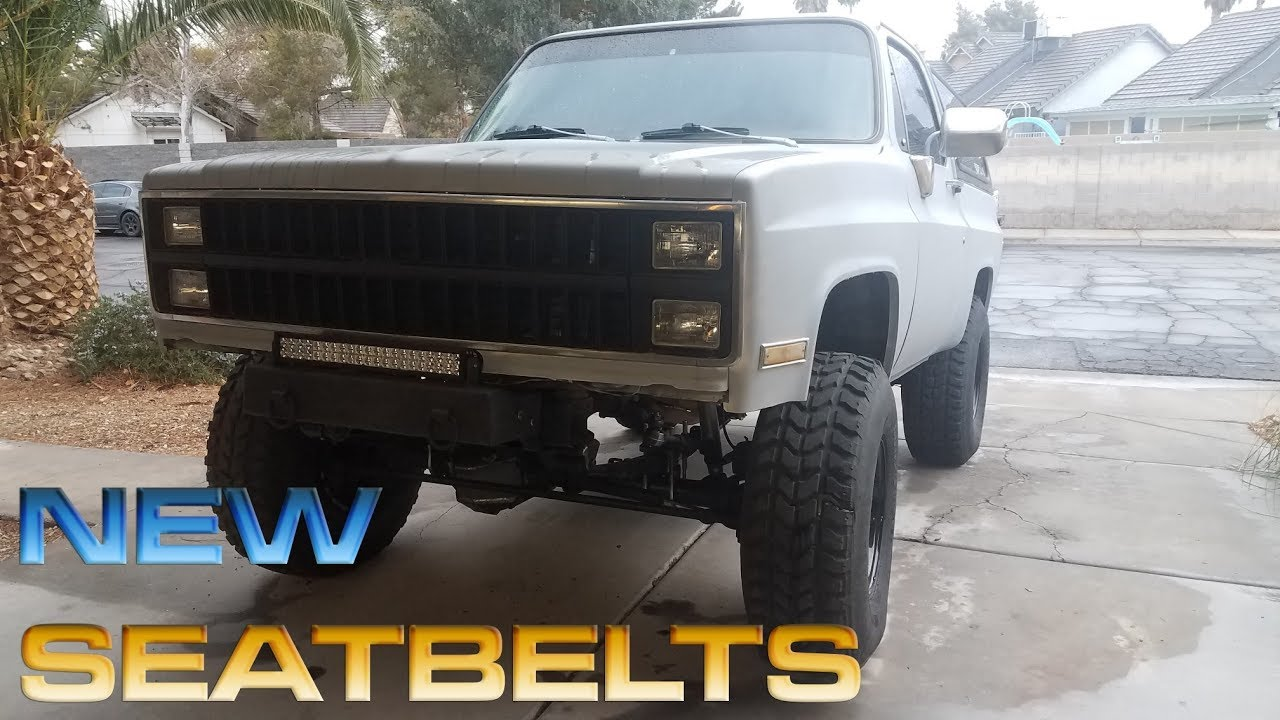 82 chevy k5 update / installing new seat belts