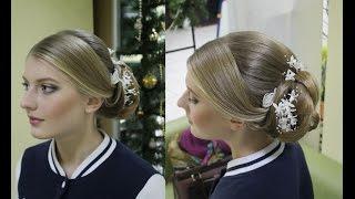 Прическа и макияж для блондинки в салоне красоты Гримерка в Рязани.