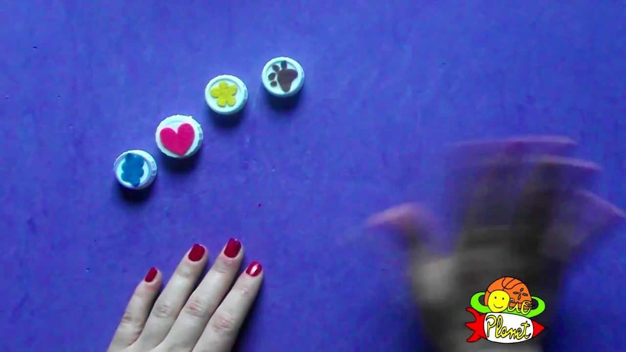C mo hacer sellos con tapones de pl stico youtube for Como hacer sellos