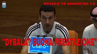 "[Brasile-Argentina] Scaloni in conferenza stampa: ""Bene Dybala"" 🗣"