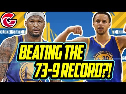 BEATING THE 73-9 RECORD!?! 2019 Golden State Warriors Rebuild! NBA 2K18