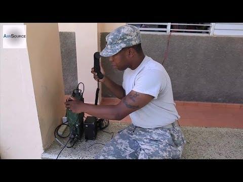 Army Specialist Prepares a Falcon-III PRC-117G Radio