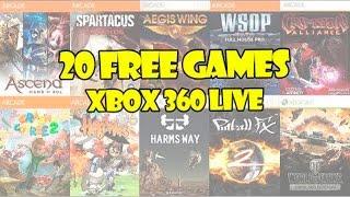 20 jogos GRÁTIS para Xbox 360 na LIVE (FREE games on Xbox LIVE)