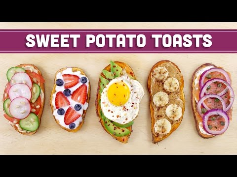 Healthy Sweet Potato Toast (Vegan Options) Mind Over Munch