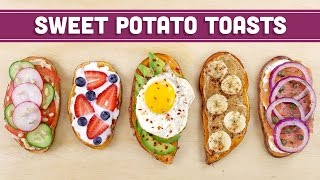 Healthy Sweet Potato Toast (Vegan Options) - Mind Over Munch