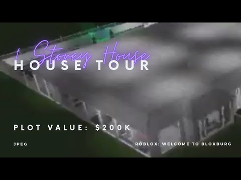 200k One Story House Tour Welcome To Bloxburg Roblox Youtube