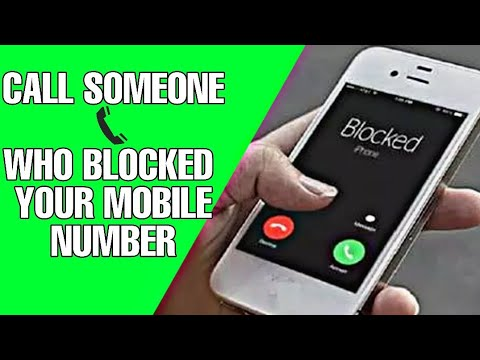 Calling Someone Who Blocked Mobile Number