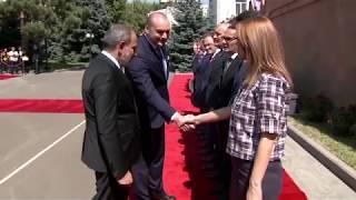 Ինչպես Նիկոլ Փաշինյանը դիմավորեց Վրաստանի վարչապետին