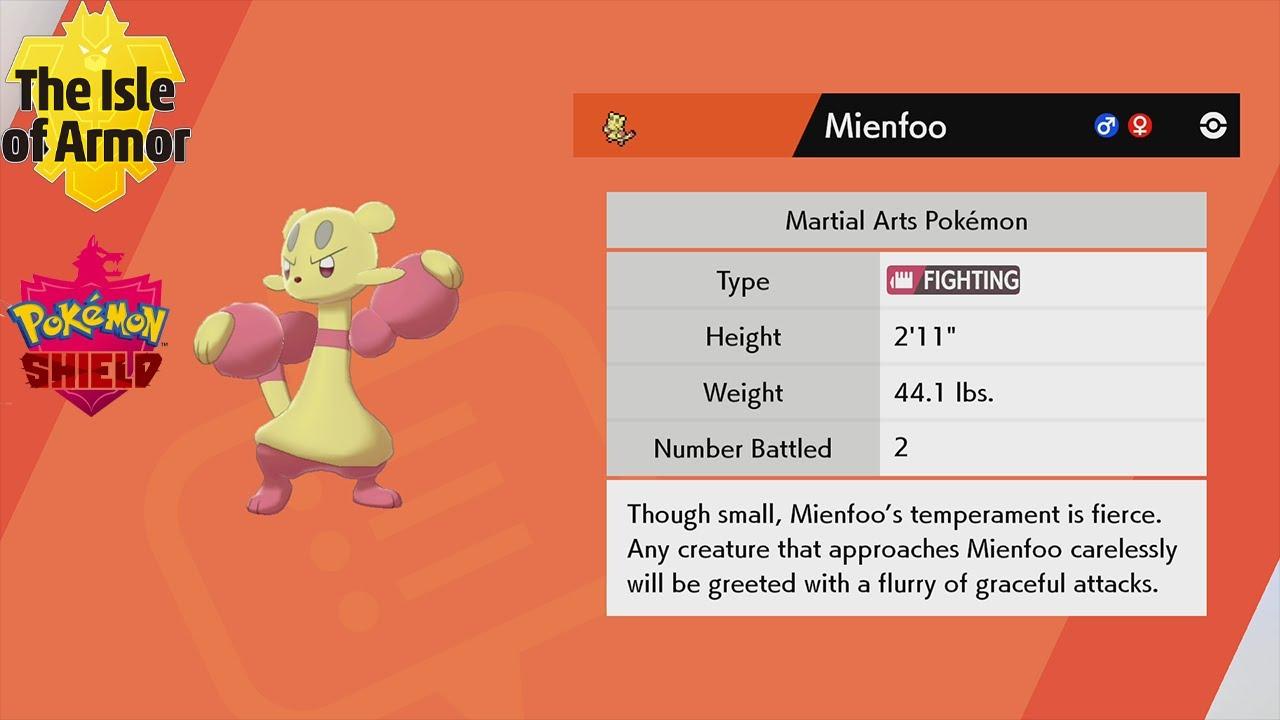 Pokemon Sword Shield How To Find Evolve Mienfoo Into Mienshao