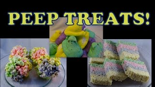 Peep Rice Krispie Treats & Popcorn Balls- With Yoyomax12