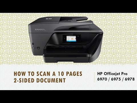 HP Officejet Pro 6970   6975   6978: Scan Multiple (10) pages 2 sided document to PDF