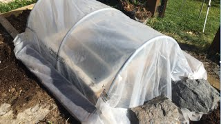 Building a Hoop House Polytunnel and Cold Frames to Protect my Fall and Winter Garden