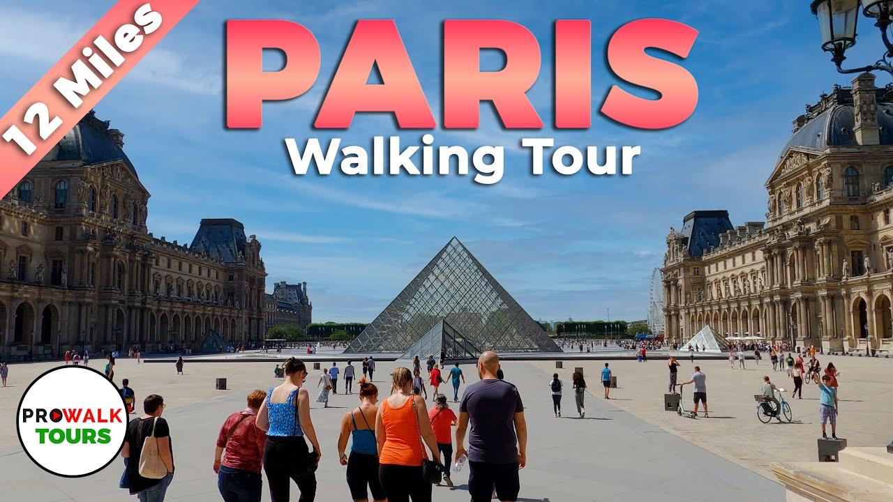 PARIS Walking Tour - 4K - With Captions!