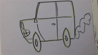 How To Illustrate A Cartoon Car