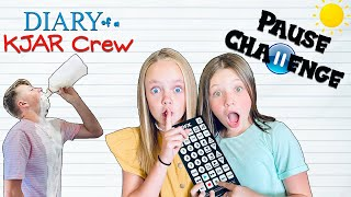 PAUSE Challenge With KIDS FUN TV!! Fun Squad Sneaky Jokes!! DIARY of a KJAR Crew!!
