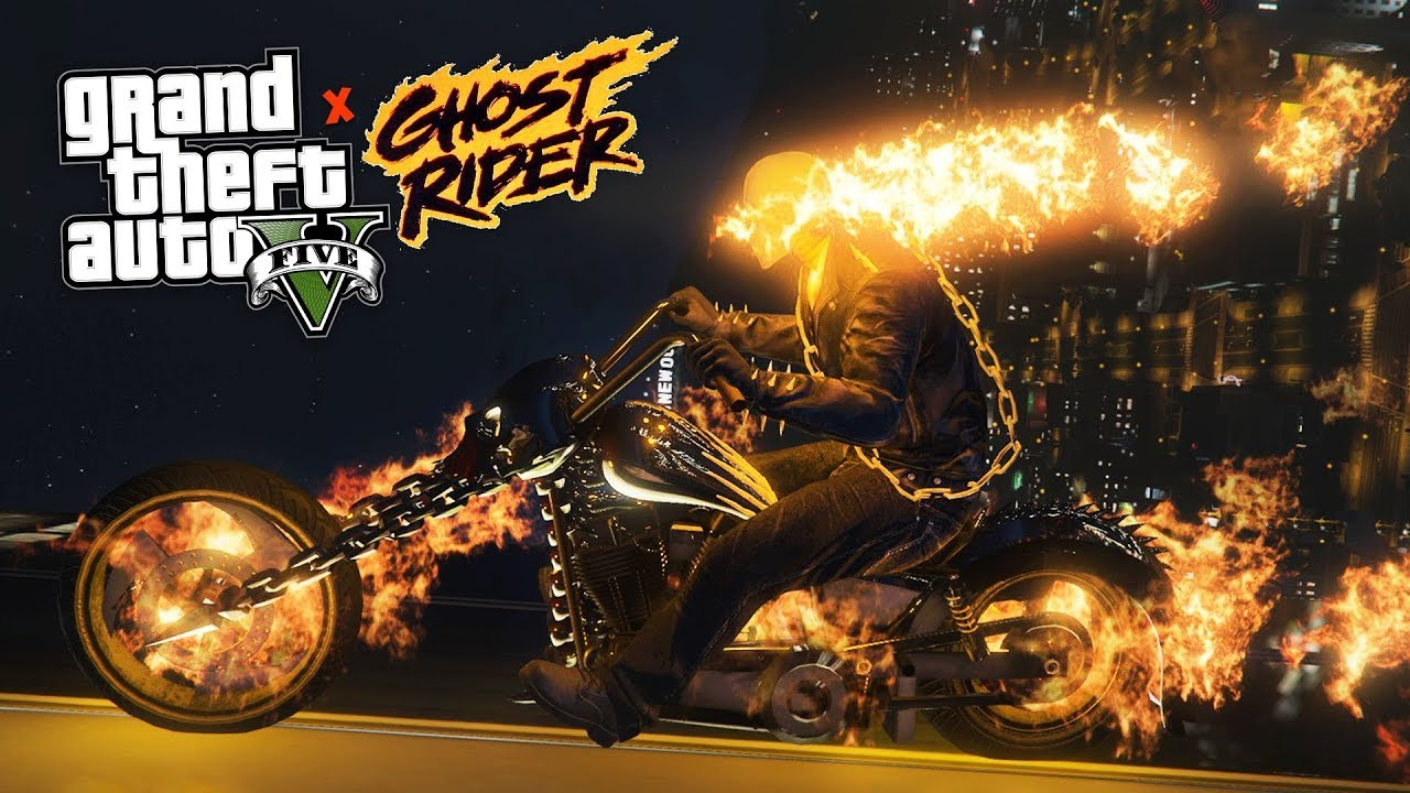gta v ghost rider mod v1.2[download+install]with live gameplay - youtube