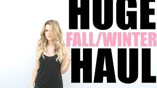 HUGE Fall/Winter Haul 2015 | Nike, Free People, ZARA, & More!