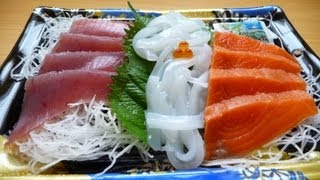"Eating Japanese food ""Sashimi"" 刺身"