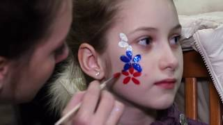 Болельщики на матче Швеция-Россия